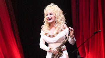 Dolly Parton's live performance at the Red Rocks Amphitheatre in Colorado in 2016.