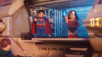 "Lego Superman and Wonder Woman have their moment in ""The Lego Movie 2."""