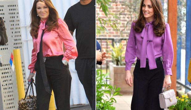 Kate Middleton stepped out wearing a Lisa Vanderpump-approved Gucci shirt.