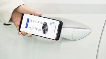 "Hyundai's ""Digital Key"" uses near-field communication to enable the driver to access and start the car without a key."
