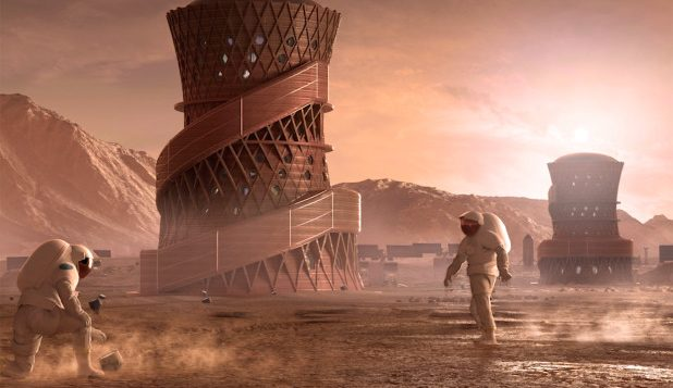 The winning design of NASA's 3D-printed Habitat Challenge.